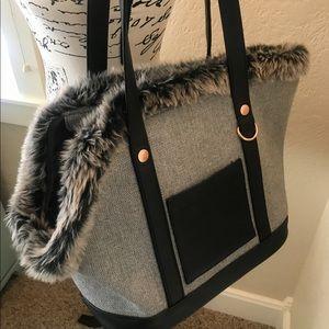 NWOT Bond & Co. Pet Tote Bag, Retractable Leash S